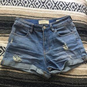 Pacsun high rise super stretch shortie shorts